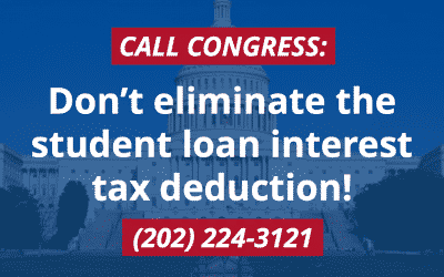 Stop the GOP Tax Bill that Eliminates the Student Loan Interest Tax Deduction